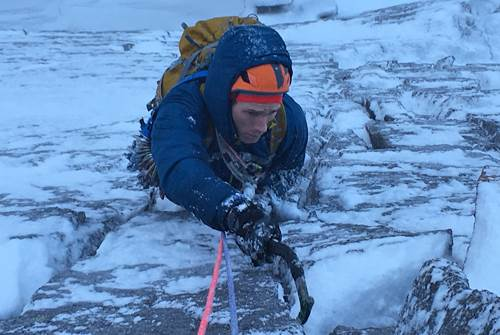 Tim Neill climbing in the Cairngorms cMarkWalker