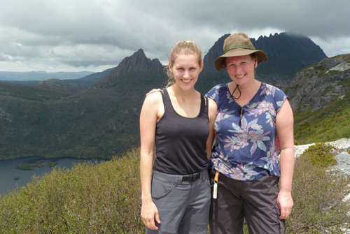 April and Amy Overland Track Tasmania