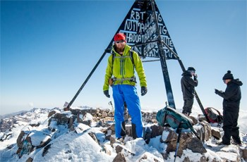 Alex Frood on the summit