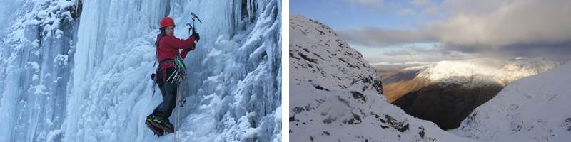 Ice climbing cKMidlane and winter walking