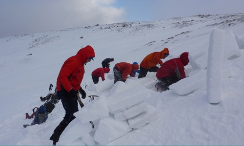 Digging emergency shelters